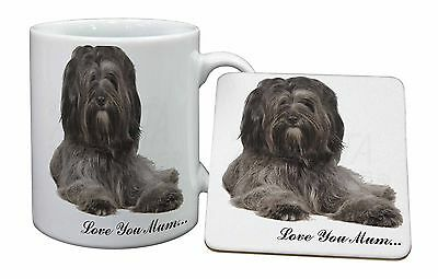 Tibetan Terrier 'Love You Mum' Mug+Coaster Christmas/Birthday Gift , AD-TT2LYMMC