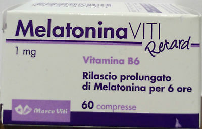 Melatonina Viti Retard 1 mg + vit B6 per sonno e jet lag 60 cpr MADE IN ITALY