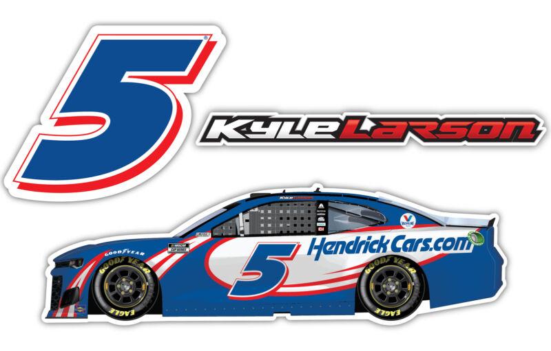 Kyle Larson NASCAR #5 3 Pack Laser Cut Decal
