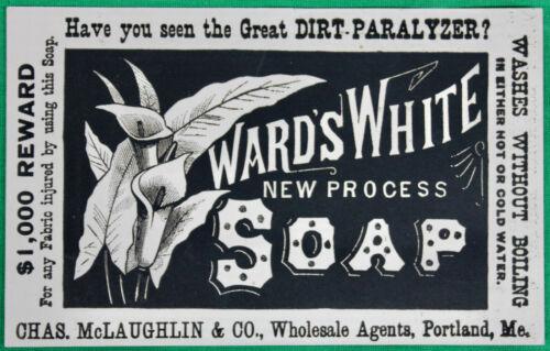 Original Vintage 1800s Ward's White New Process Soap Unused Label