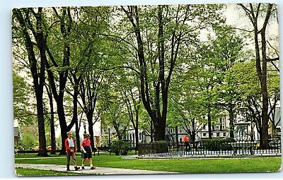 Meadville PA The Diamond Park 1970s Fountain Stone Church Vintage Postcard B80 for sale  Shipping to Canada