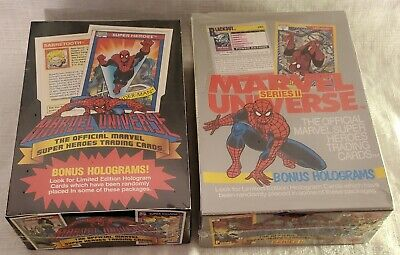 Impel Marvel Universe Series 1 And 2 New Factory Sealed Trading Cards Box Lot