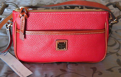 Small Pouchette - Dooney & Bourke ~LOLA POUCHETTE Leather Purse Small Bag~R5904T ~RED~ NWT $128