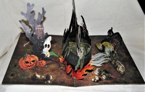 Vintage Hallmark Halloween Pop Up Decoration Witch & Cauldron - Rare!