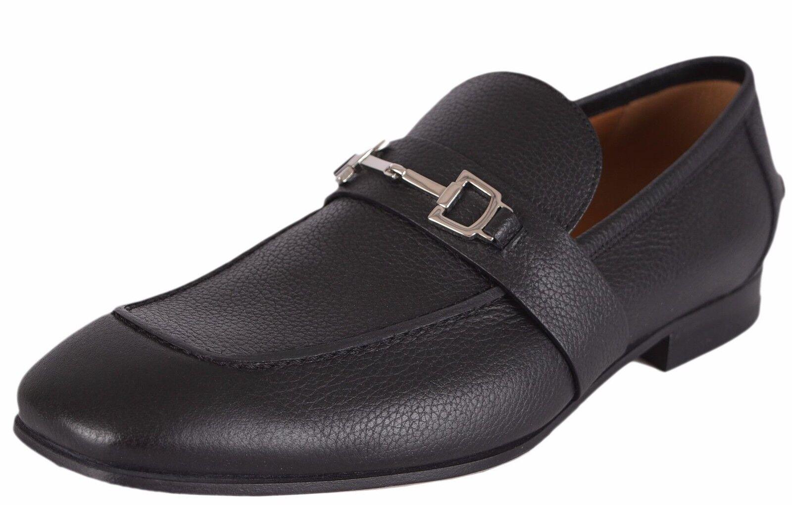 NEW Gucci Men's $820 Black Leather Praga Horsebit Loafers Shoes 13.5 G 14.5 US