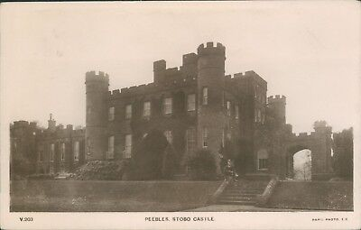 Peebles stobo castle  1912 real photo rapid photo