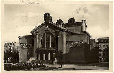 Pardubice Pardubitz Tschechien s/w AK 1946 gelaufen městské divadlo Stadttheater