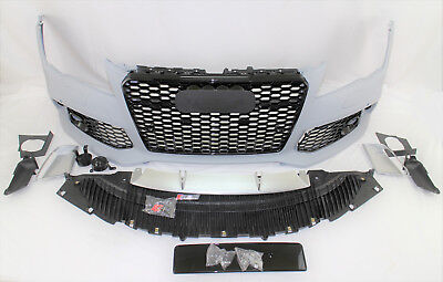 RS7 style front bumper cover  grille lower spoiler set kit fits 2012-15 A7 S7