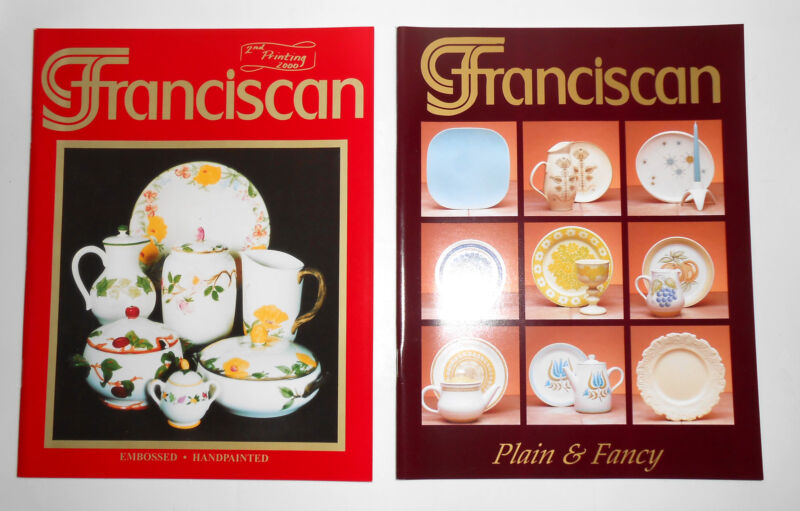 Pair Delleen Enge Franciscan Pottery Plain & Fancy - 2nd Ed. Hand-painted Books