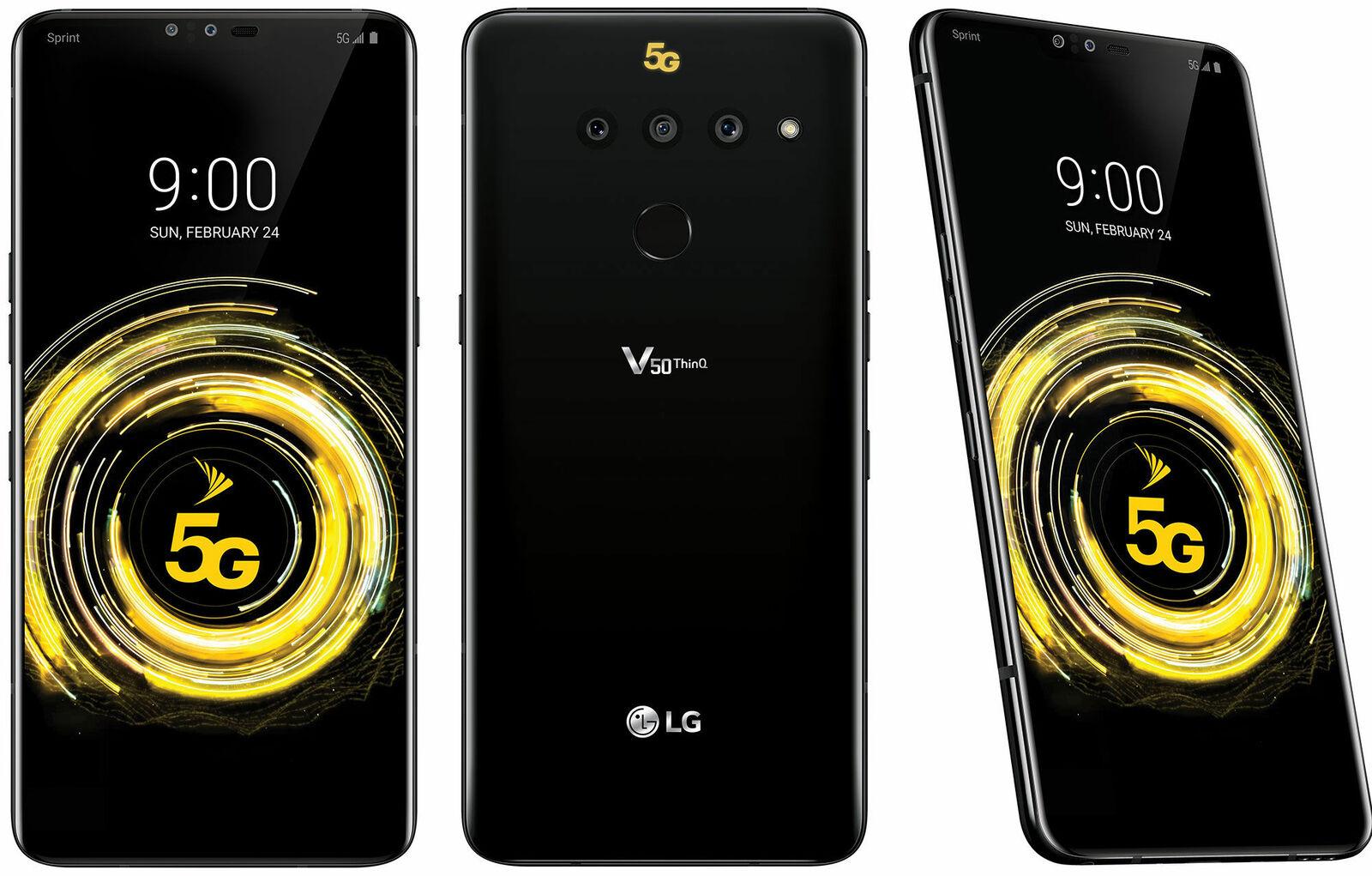 BRAND NEW LG V50 5G ThinnQ 5G SPRINT & GSM UNLOCKED- T-MOBILE AT&T METRO CRICKET