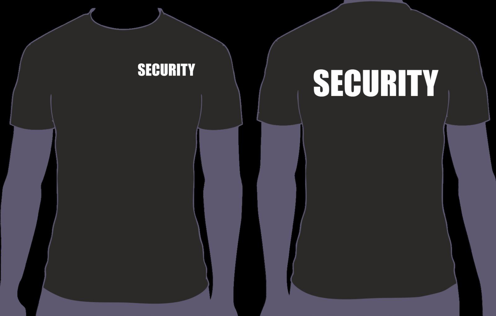 SECURITY T-Shirt  Damen, Herren, Bekleidung Sicherheitsdienst Türsteher (O)