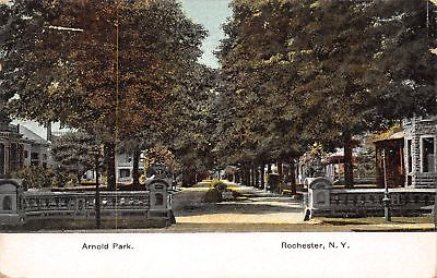 Rochester Ny Arnold Park Residential Neighborhood Homes Stone Entrance 1907 Pc