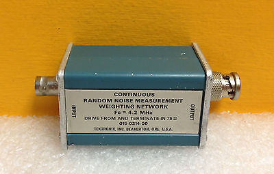 Tektronix 015-0214-00 4.2 Mhz Fc 75 Ohm Bnc Random Noise Weighting Network.