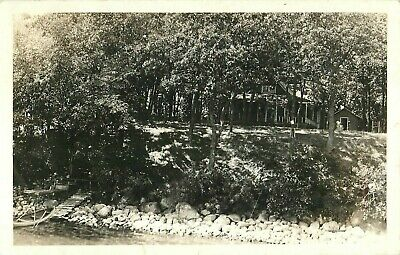 1939, Cabin Scene at Spirit Lake, Iowa Real Photo Postcard/RPPC