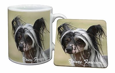 "Chinese Crested Dog ""Yours Forever..."" Mug+Coaster Christmas/Birthda, AD-CHC2yMC"