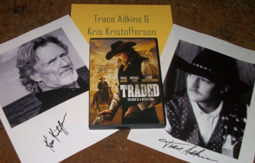 ADKINS & KRISTOFFERSON Autographed Photo & Photos & Movie TRADED- Collectible