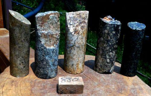 #1529 5 Gold Ore Core Samples from a local Colorado Mine. 81.28 OZ