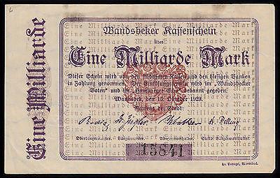 Wandsbek -Stadt- 1 Milliarde Mark vom 15.10.1923
