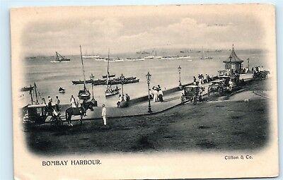 Bombay Harbor (*Bombay Harbour Harbor Maharashtra India Vintage Postcard A68)