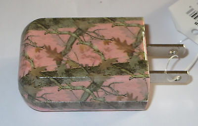 Pink Camo USB Charger Universal Home Plug In 110V New Phone Tablet E Reader