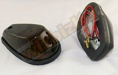 Motorbike Flush Mount Smoked Lens Fairing Indicators (12v 23w E-Marked) INDFBLKS