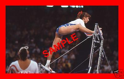 ORIGINAL 1984 PRESS TRANSPARENCY - PAMELA BLACK U.S.A. TEAM GYMNASTICS