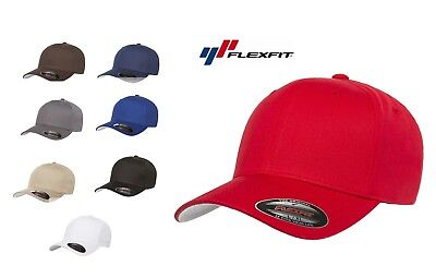Flexfit Cotton Twill Fitted Baseball Blank Hat Cap plain flex fit Twill-fitted Cap