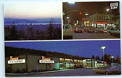 *Kovacs Restaurant Bellingham Mall Karl's Shoes Washington Vintage Postcard (Bellingham Mall)