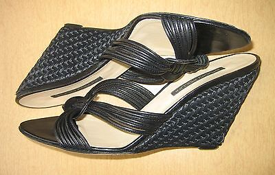 (STUDIO POLLINI Women's Elegant Wedge Sandals Black 7.5)