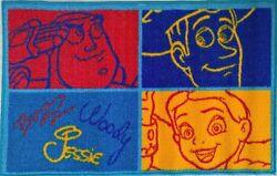 ~ Toy Story - BUZZ WOODY DISNEY BED FLOOR RUG MAT + ALARM CLOCK HANDS Analogue