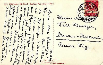 Luis Trenker, handgeschriebene AK an Architekt W. Schmitzer in Dresden-Hellerau