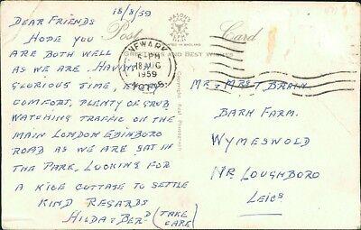 Mr & Mrs Brain. Barn Farm, Wymeswold. 1959 Hilda & Ben, Newark  RN.733