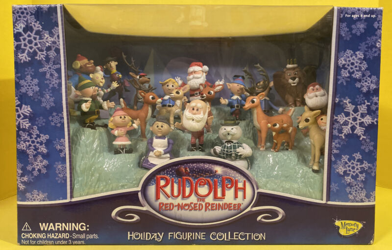 Memory Lane-Rudolph The Red Nosed Reindeer Holiday Figurine Collection 24 Pieces