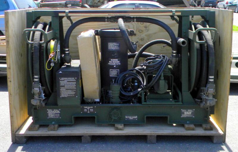 Military Surplus Aluminum Skid Mounted Fuel Transfer Pump Unit 4930-01-333-9190