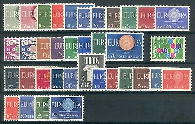 1960 EUROPA CEPT complete year set MNH