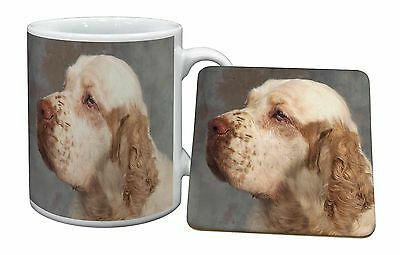Clumber Spaniel Dog Mug+Coaster Christmas/Birthday Gift Idea, AD-CS1MC