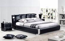 【Brand New】 Real Leather Modern MIDNIGHT BLACK Bed Frame Nunawading Whitehorse Area Preview