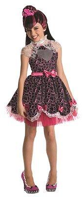Mädchen Kostüme Monster High (Monster High Kostüm Draculaura Sweet 1600 Fasching Mädchen Gr.M Lizenzware , (K))