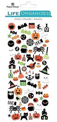 Scrapbooking Stickers Crafts PH Micro Mini Halloween Spider Pumpkin Ghost Witch