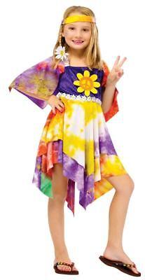 Mädchen Kind The Groovy 60s Jahre 70s Jahre Deluxe Daisy Hippie Batik Kostüm (Groovy Kind Kind Kostüme)