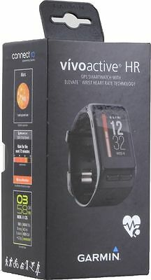 Brand New  Garmin Vivoactive Hr Heart Rate Monitor Black Regular Size Watch