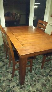 Wooden kitchen table and chairs for sale