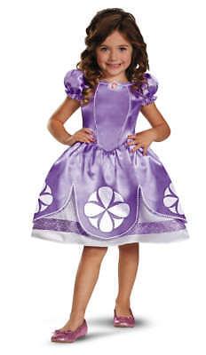 Kleinkind Mädchen Disney Prinzessin Glitzer Klassisch Sofia die Erste Kostüm