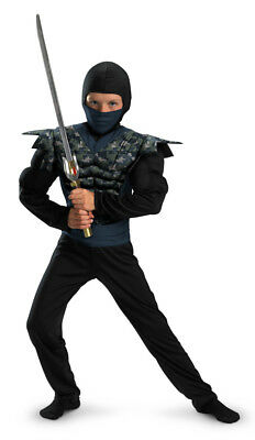 Boys Child Shadow Ninjas Fury Deluxe Muscle Chest - Camo Ninja Kostüme