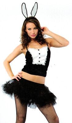 Sexy Lady Bunny girl STEWARDESS Cosplay Kostüm Schwarz  Weiß Gr. 36/38 Neu 6704