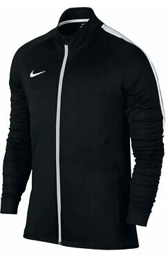 Nike Men's Dri-Fit Academy Tracksuit Jacket Top Full Zip Black White Size...