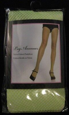 Neon Green Leg Avenue Fishnet Tights Pantyhose Stockings  (Neon Fishnet Leggings)