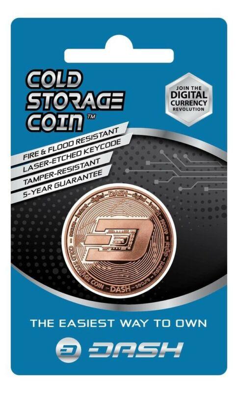 DASH Cold Storage Coin Crypto Wallet 1 Ounce .999 Fine Copper
