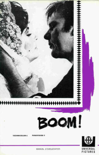 Elizabeth TAYLOR - Richard BURTON - Joseph LOSEY - French  pressbook BOOM