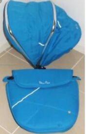 Blue Wayfarer hood and apron set